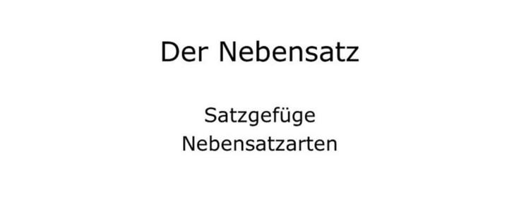 Nebensatz (Kalimat Sambung) dalam Bahasa Jerman : weil, dass